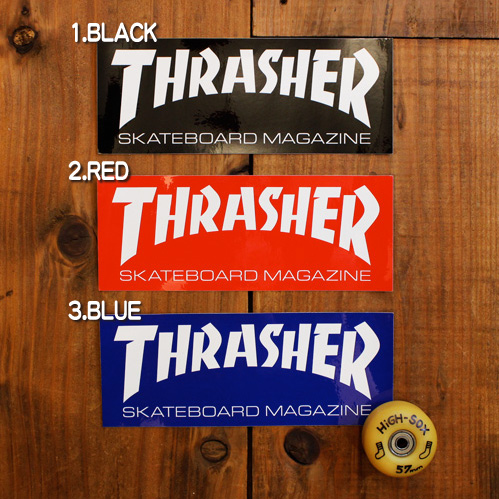 THRASHER LOGO STICKER (SUPER)