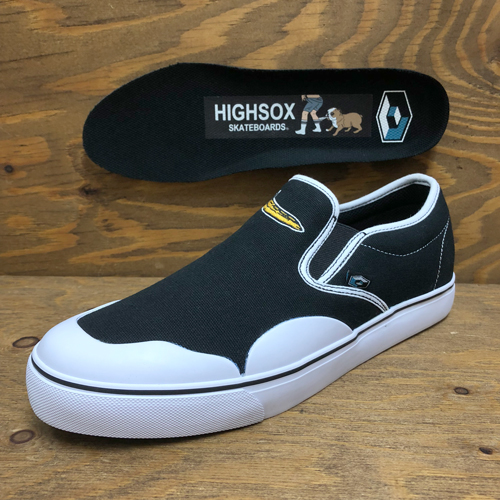 (26.5cmのみ)CONSOLIDATED x HIGHSOX BS DRUNK 5 CANVAS SLIP ON BANANA