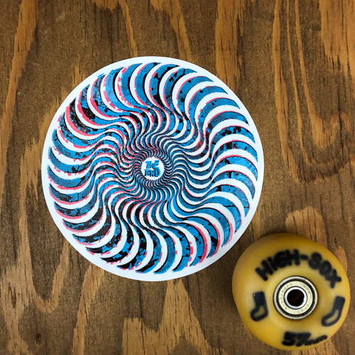 SPITFIRE NEVERMIND SWIRL STICKER MD