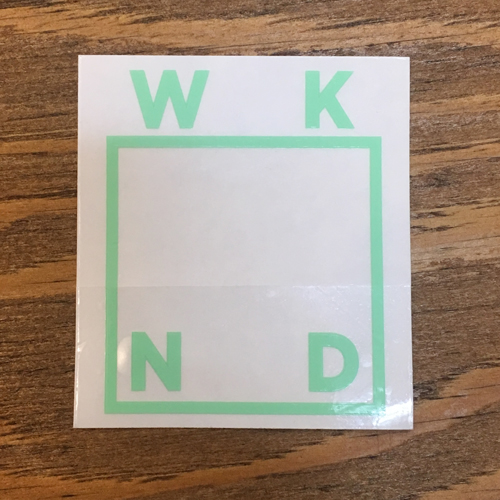 WKND LOGO STICKER