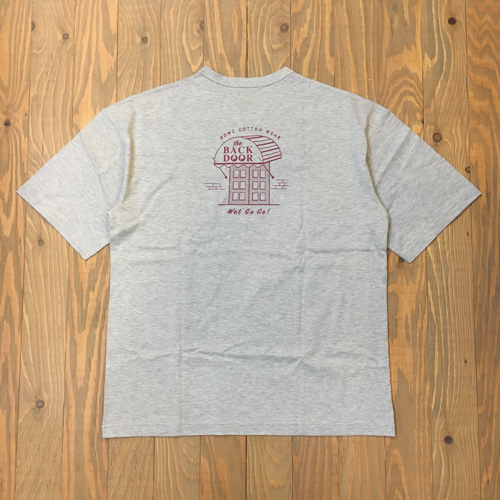 BOWL COTTON WEAR THE BACK DOOR S/S TEE GRAY