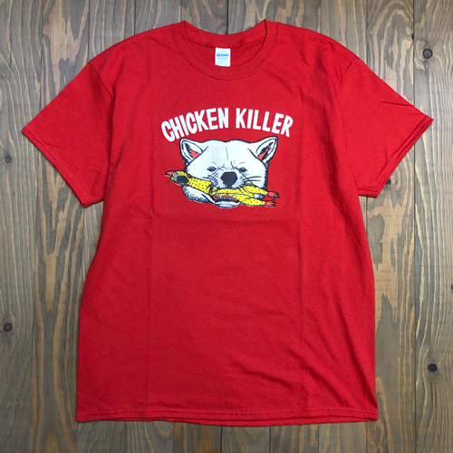 BEER SLAVE CHICKEN KILLER TEE RED