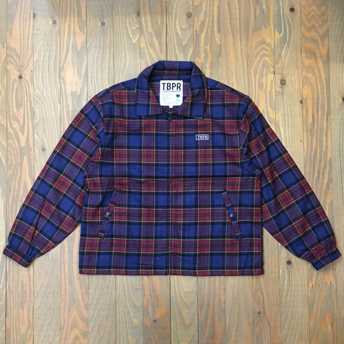 THIGHTBOOTH CHECK FULL ZIP SHIRT RED