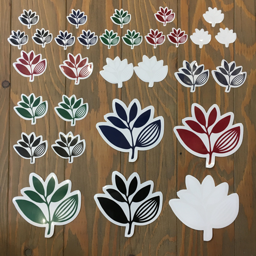MAGENTA PLANT STICKER 30 PACK