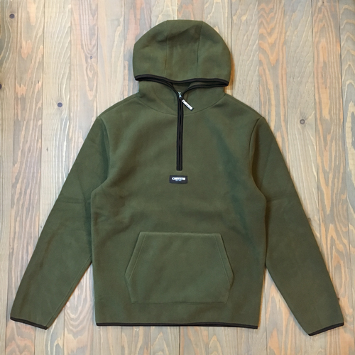 CHRYSTIE POLAR FLEECE PULLOVER HOODIE MILITARY GREEN