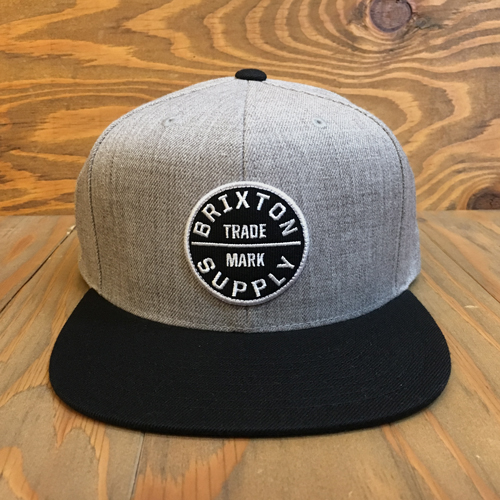 BRIXTON OATH ||| SNAPBACK HEATHER GREY/BLACK
