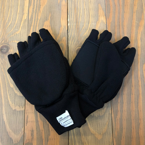 CCC 2 WAY FLEECE GLOVE 2 BLACK