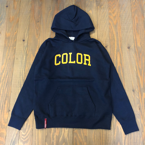 CCC COLLOGE FLOCK HOOD SWEAT NAVY