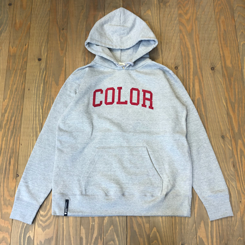 CCC COLLOGE FLOCK HOOD SWEAT GREY