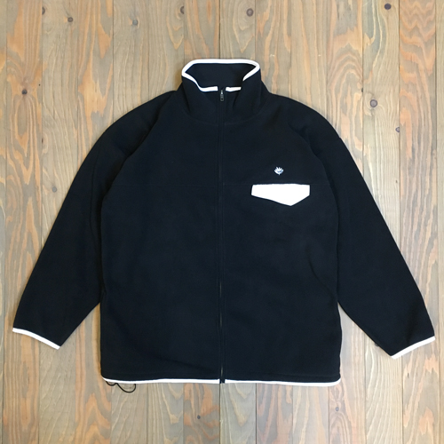 MAGENTA NORTHFLEECE ZIP JACKET BLACK/WHITE