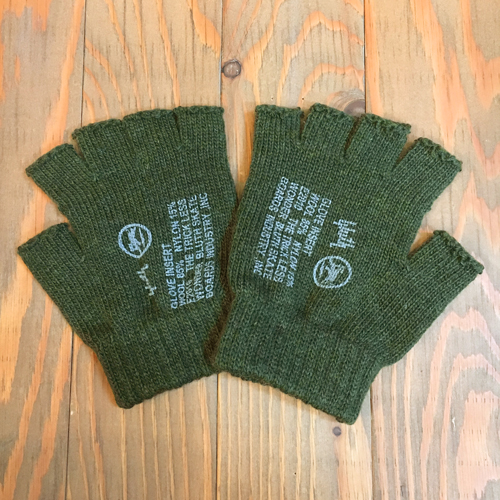 BLUTH FINGER LESS WOOL GLOVE OLIVE DRAB