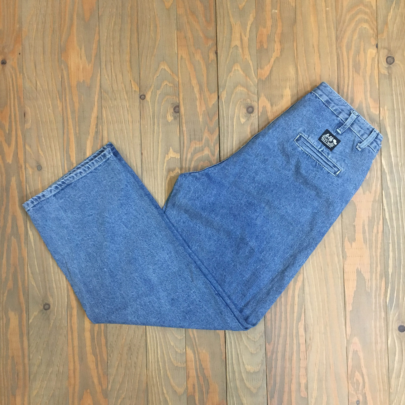 EAZY M!SS LOOSE DENIM PANTS BLUE