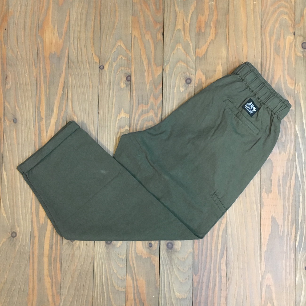 EAZY M!SS FAKE POCKET WILD PANTS GREEN