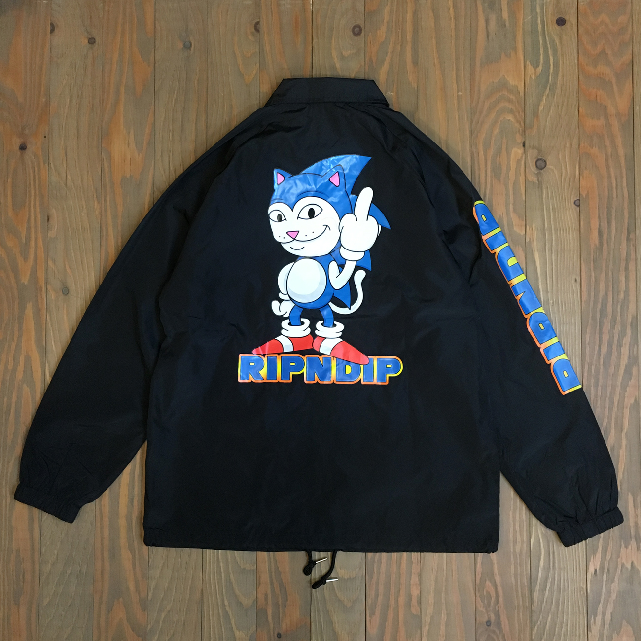 RIPNDIP NERMHOG COACH JACKET BLACK