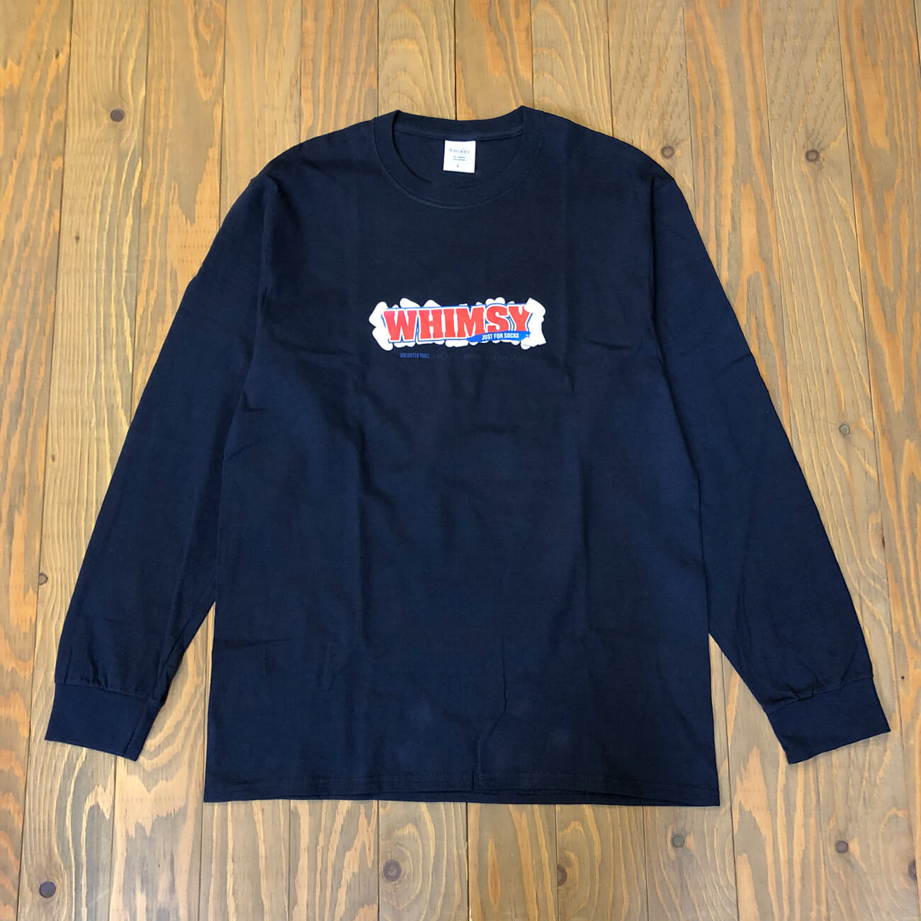 WHIMSY PAY DAY L/S TEE NAVY