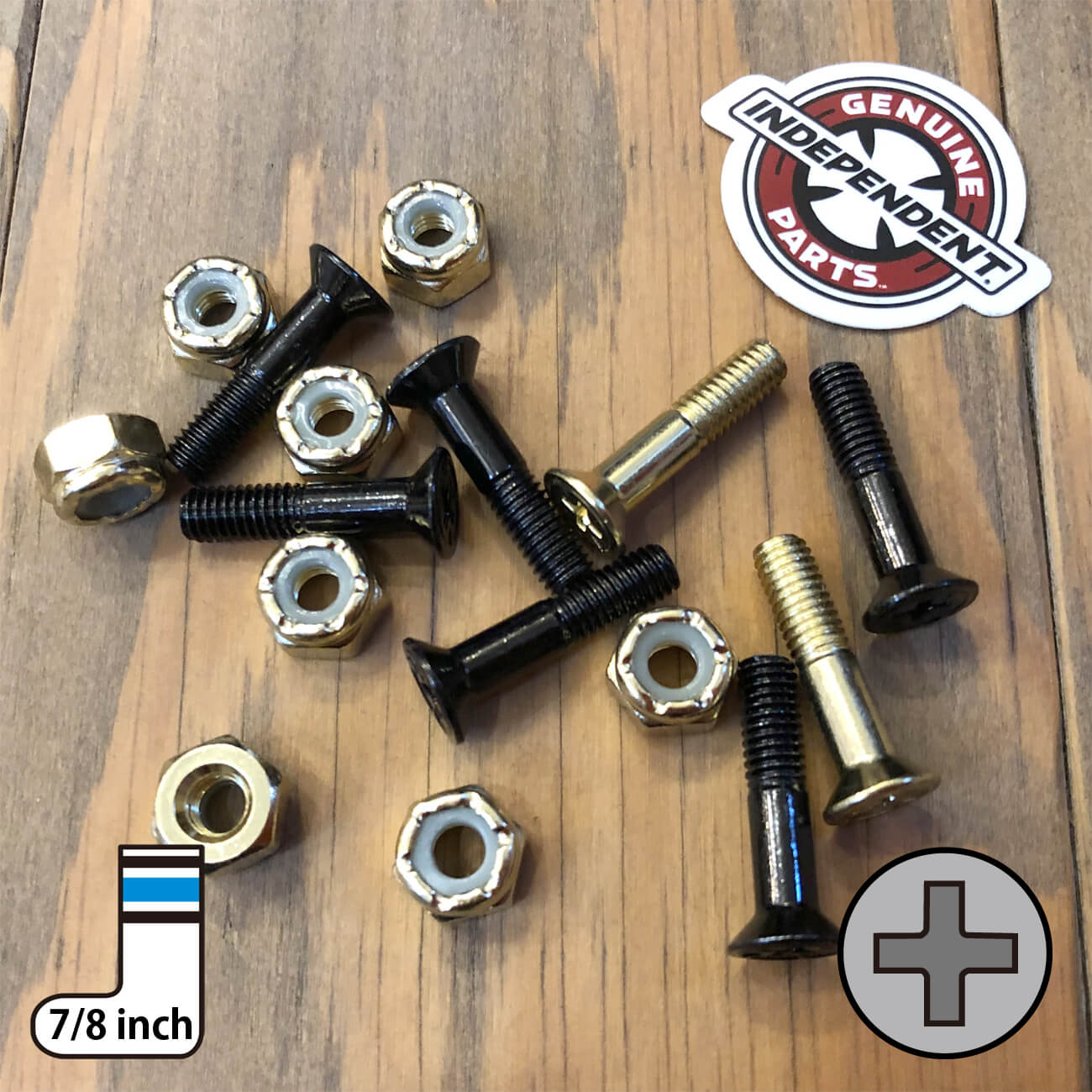 INDEPENDENT CROSS BOLTS 7/8inch GOLD PHILLIPS(プラス)