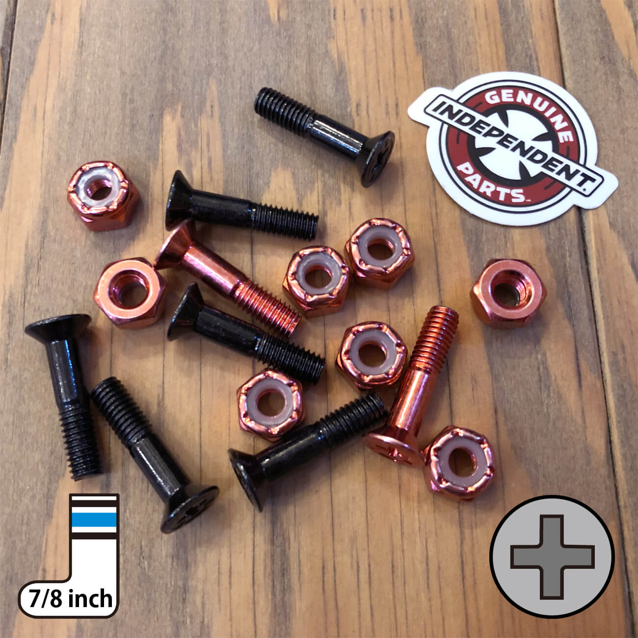 INDEPENDENT CROSS BOLTS 7/8inch RED PHILLIPS(プラス)