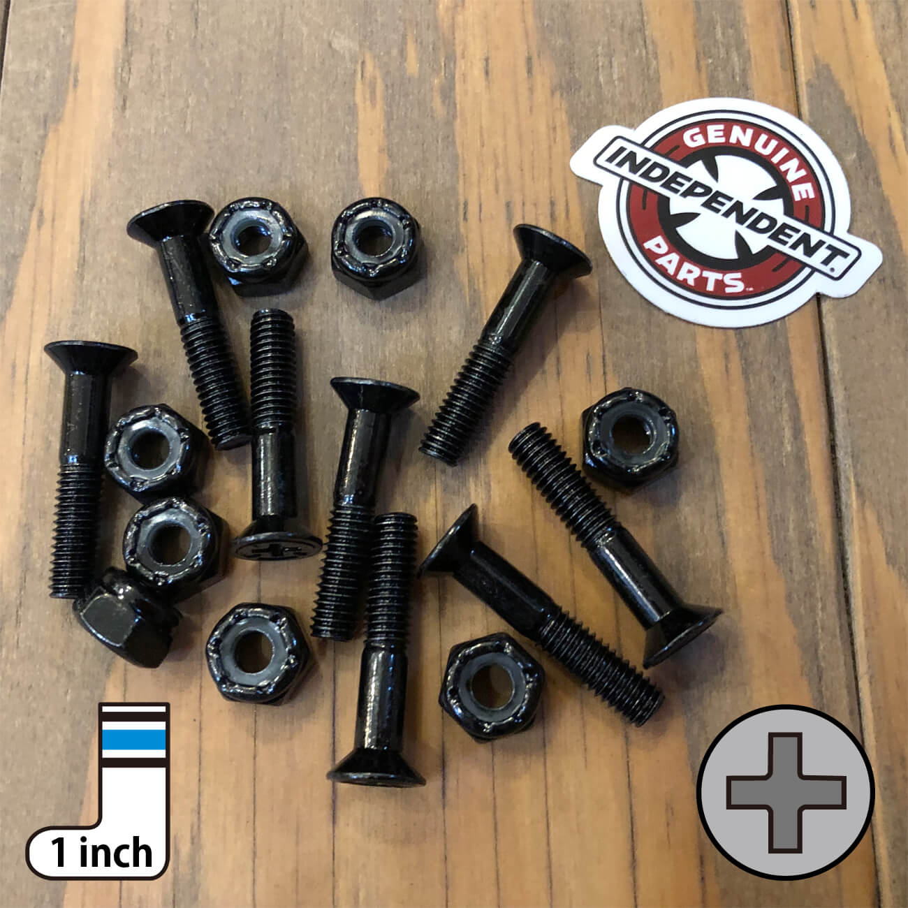 INDEPENDENT CROSS BOLTS 1inch PHILLIPS(プラス)