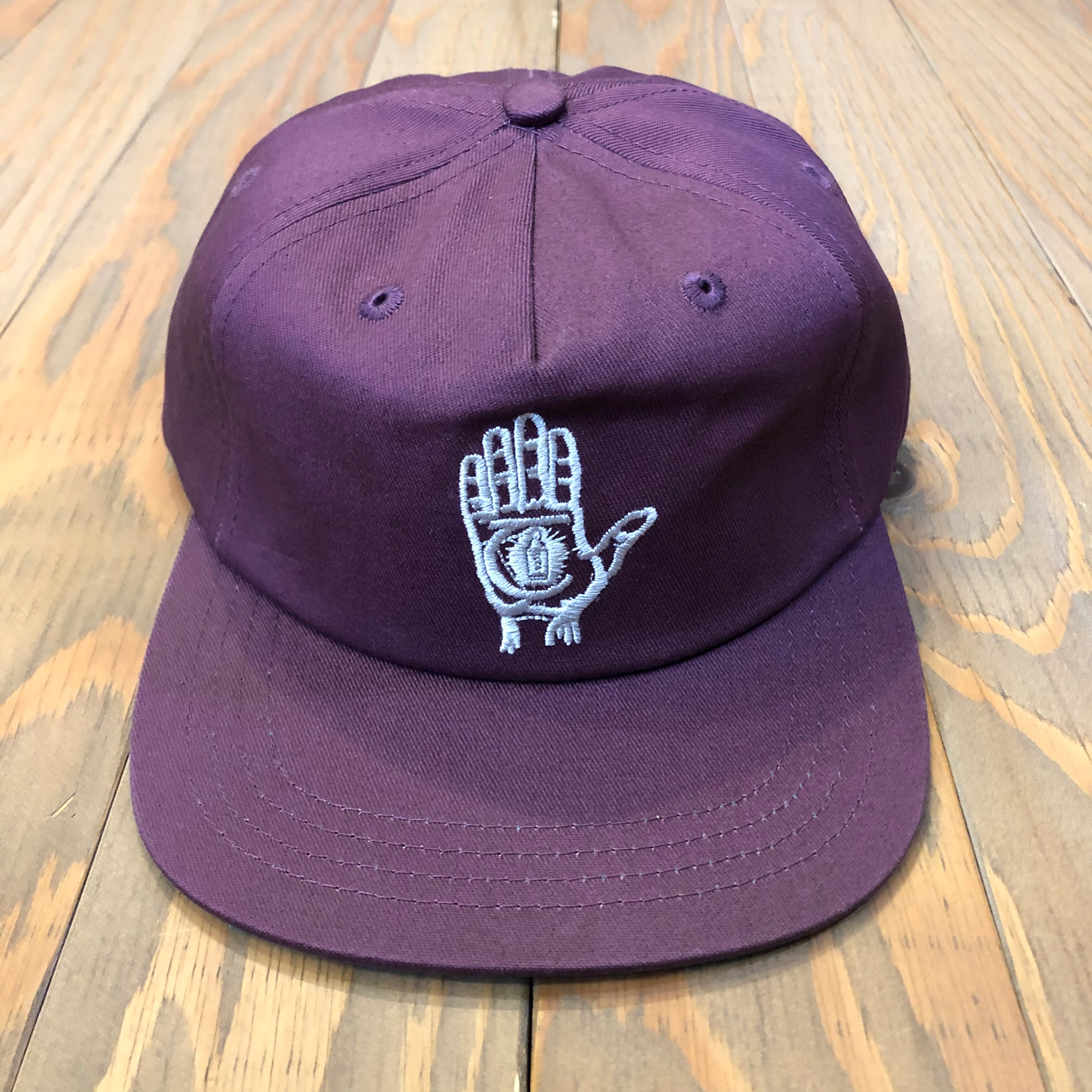THEORIES HAND OF THEORIES STRAPBACK CAP PLUM