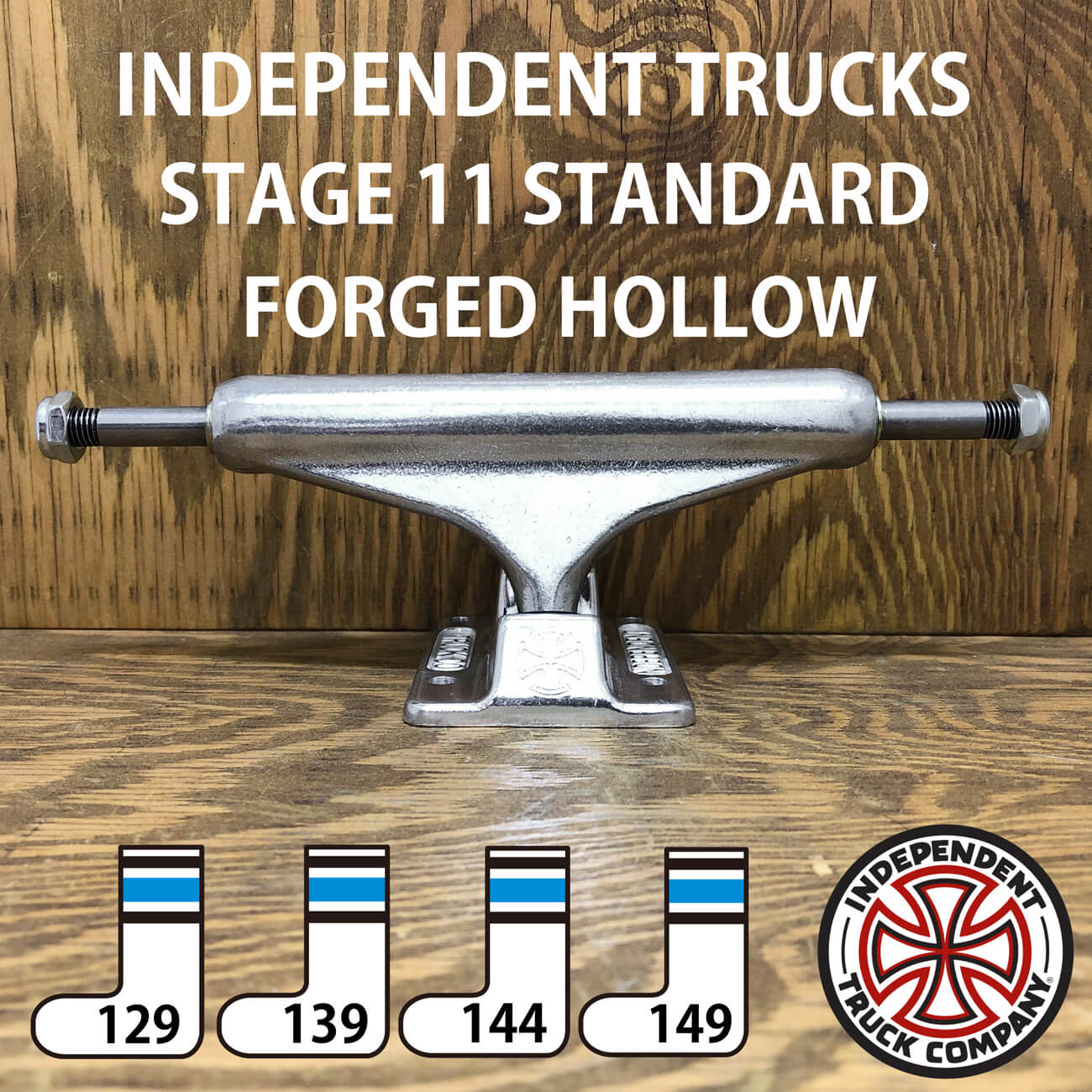 INDEPENDENT STAGE11 FORGED HOLLOW SILVER STANDARD TRUCKS 129-149