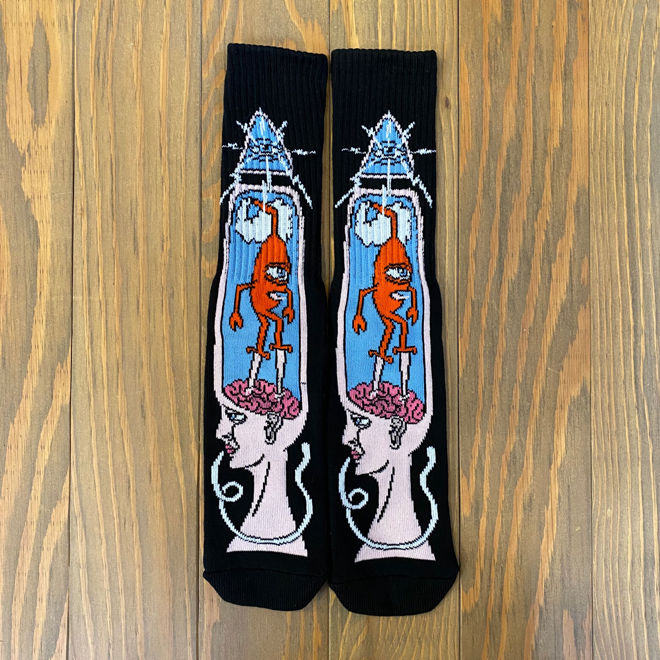 TOY MACHINE BRAIN STAB SOX BLACK