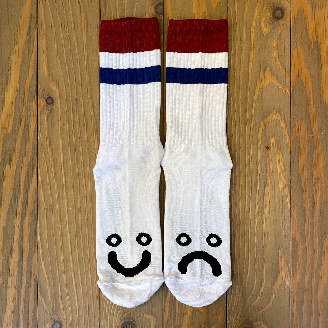 POLAR HAPPY SAD SOX STRIPES RED