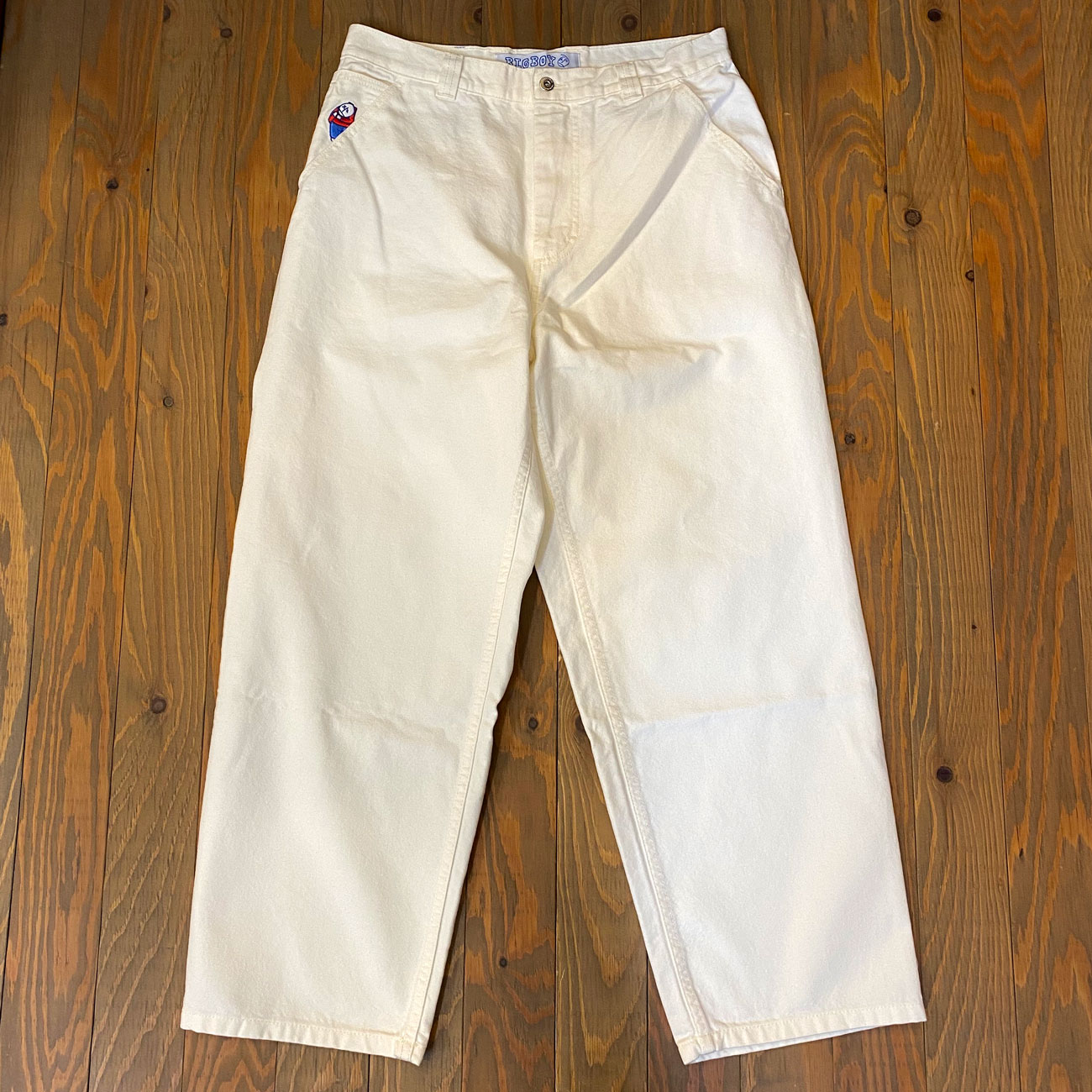 POLAR BIG BOY CANVAS PANTS IVORY