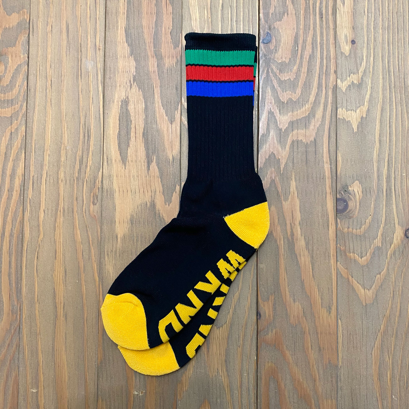 WKND STRIPE SOX BLACK