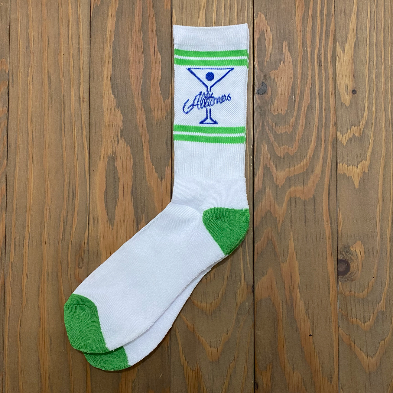 ALLTIMERS CLASSIC LOGO SOX WHITE
