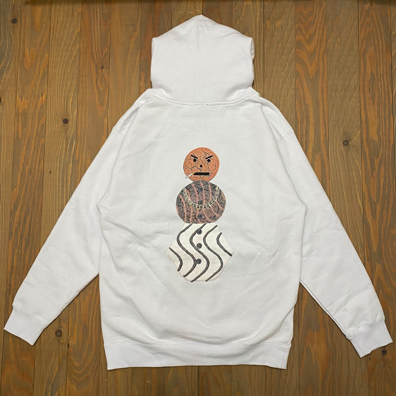 QUARTER SNACKS CLASSC SNACKMAN HOODY WHITE