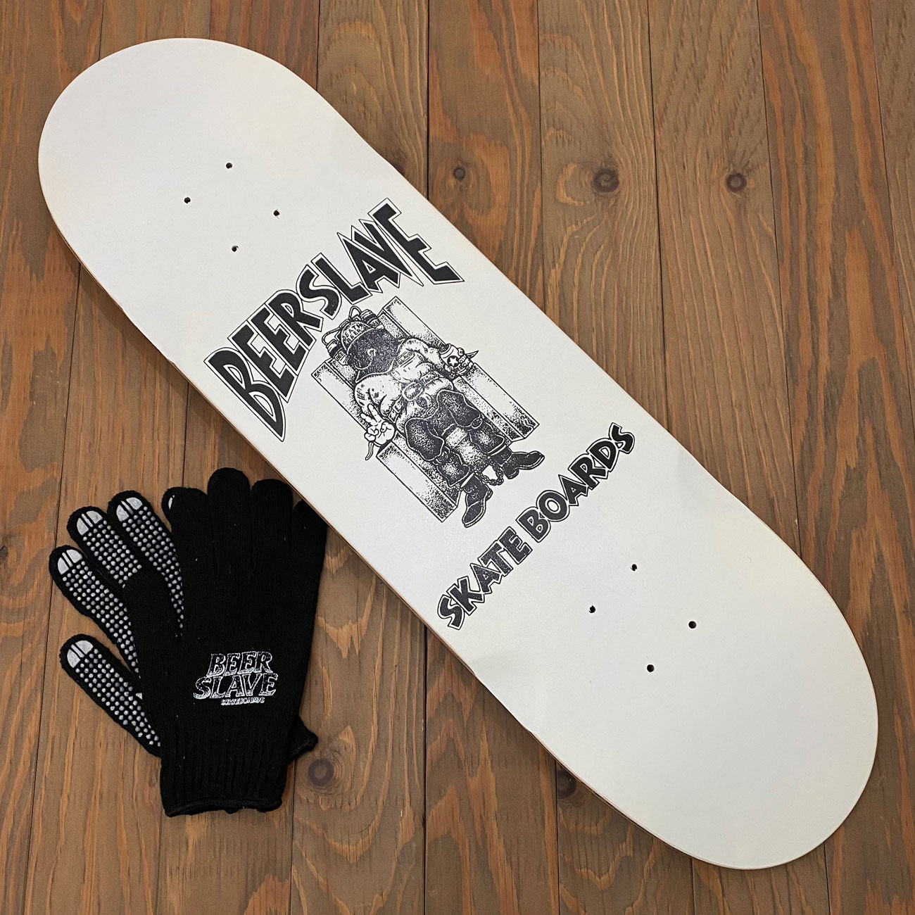BEER SLAVE DEATH BEER DECK 8.75inch SLAPPY SHAPE