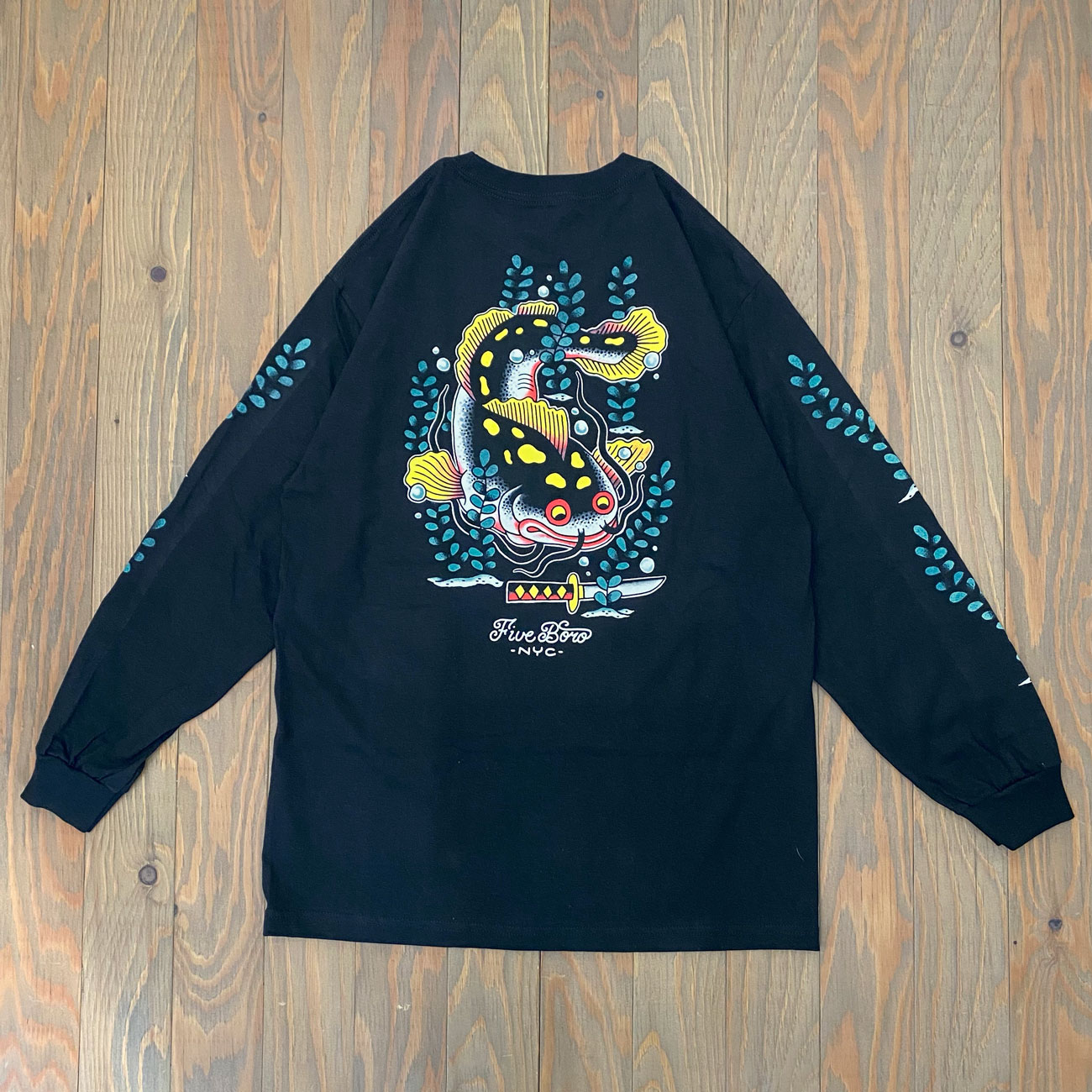 5BORO CATFISH LS TEE BLACK