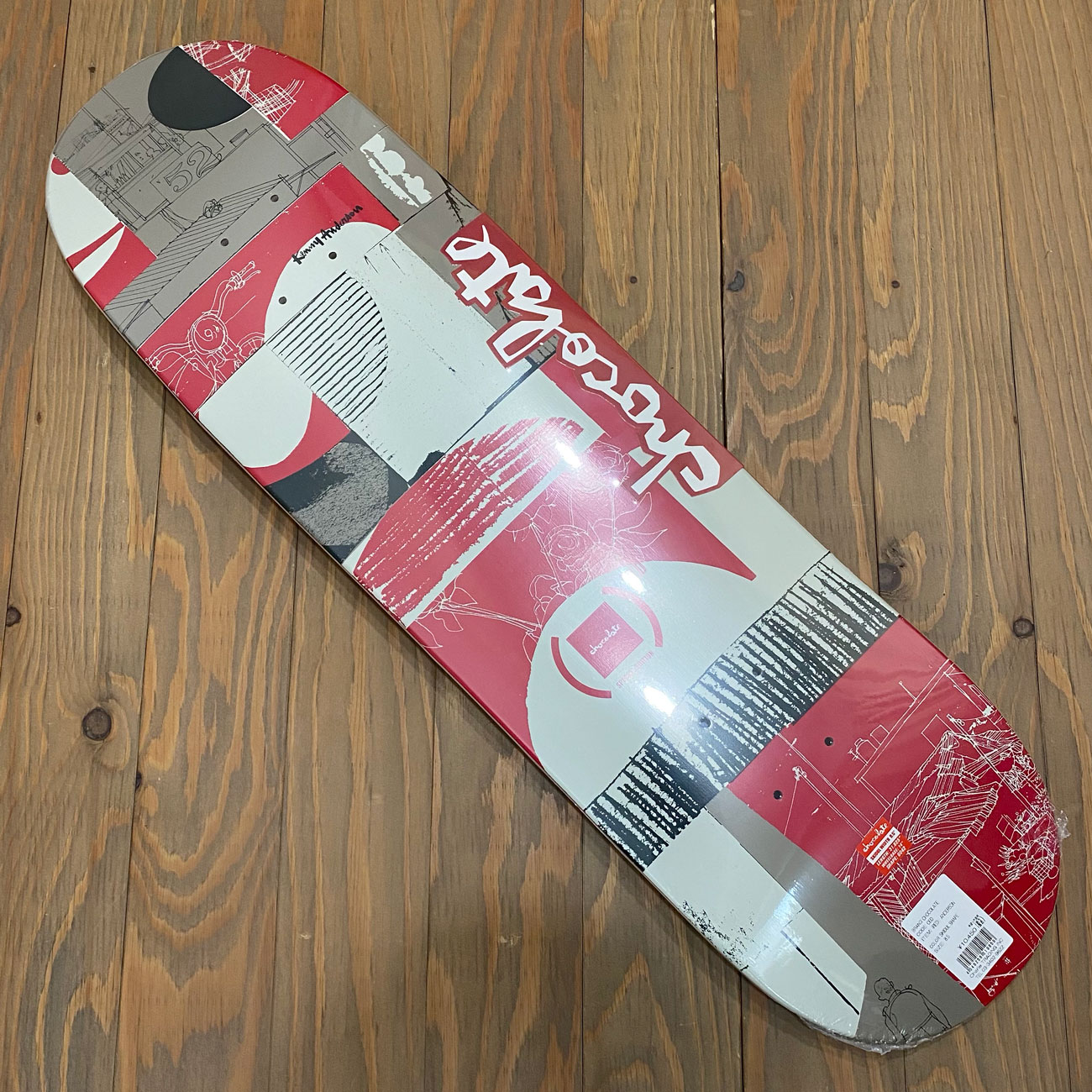 CHOCOLATE ANDERSON RED SKIDUL SHAPE DECK 8.5inch
