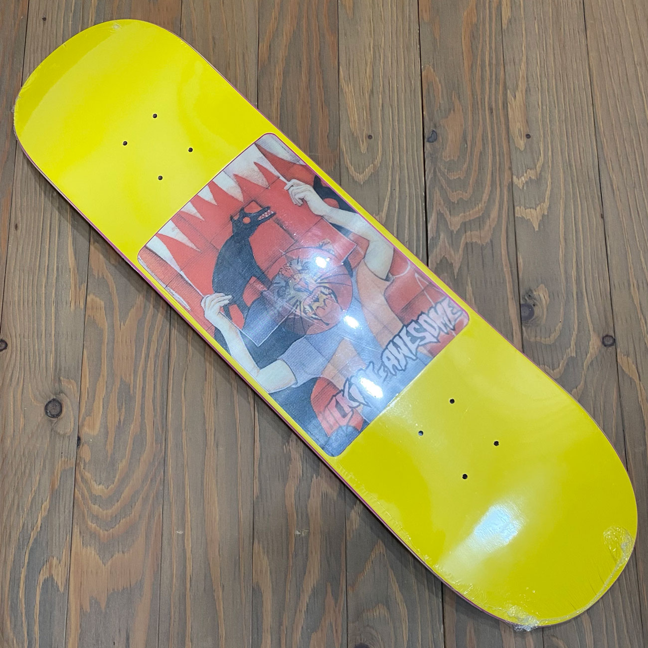 FUCKING AWESOME TIGER HOLOGRAPHIC YELLOW DECK 8.0inch